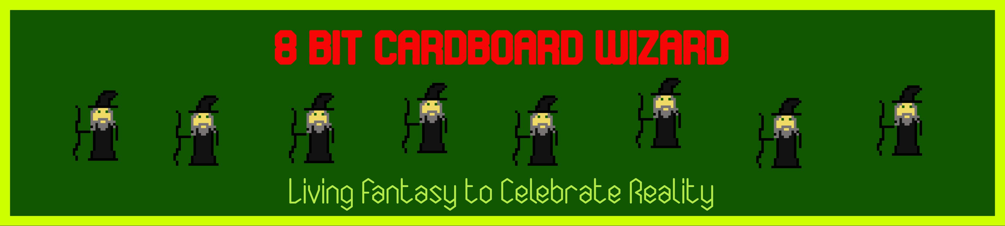 8 Bit Cardboard Wizard